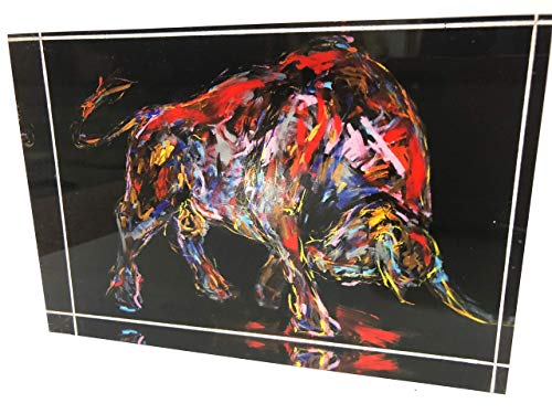 Acrylblock; Lamborghini Passion,10 x 15 cm limitiert, bekannte Künstlerin