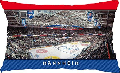 Blue-Letter Eishockey Mannheim Stadionkissen (60 x 40 cm) weiß